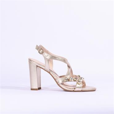 Marian Jewel Detail Strappy Sandal Delma - Gold